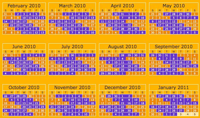 Parenting Calendar Template Idealstalist