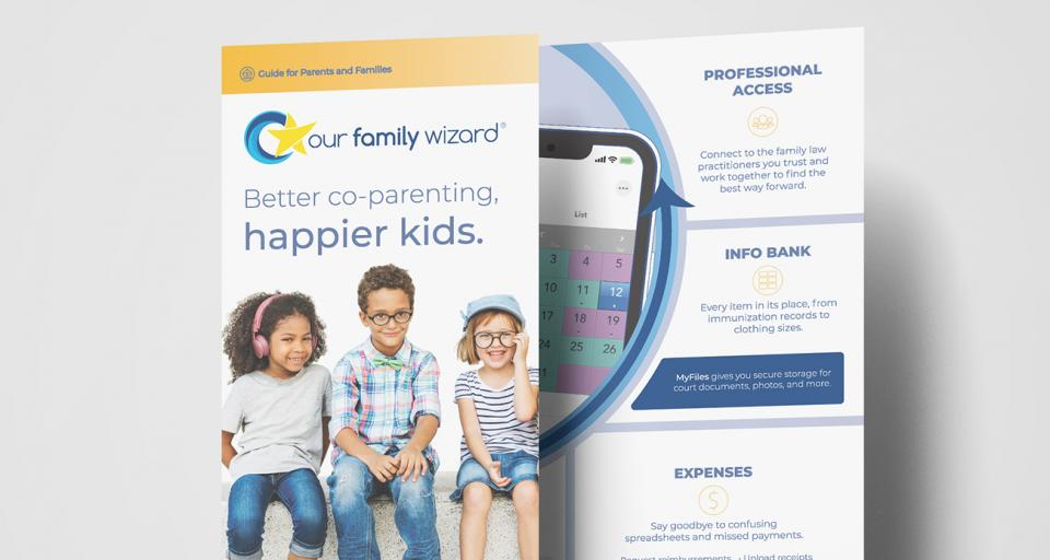Order free brochures to introduce parents to the OFW suite of co-parenting tools
